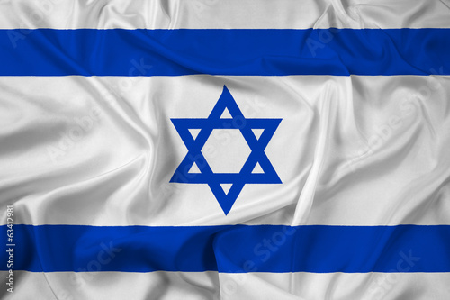 Waving Israel Flag