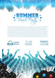 Summer Music Background with Instruments - Vector