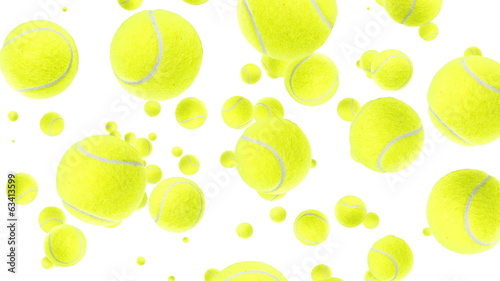 Falling Tennis Balls (with Transition)