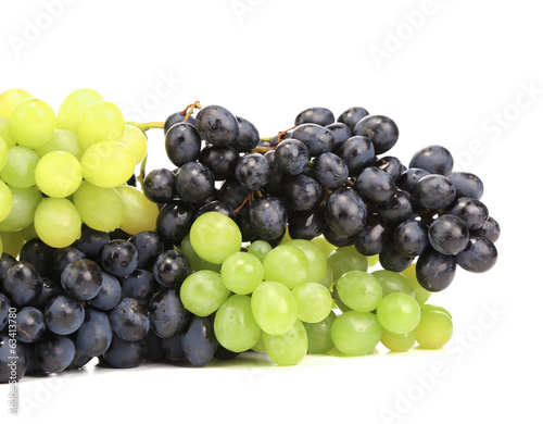 Assortment of ripe grapes.