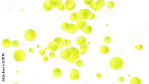 Tennis Balls shaping a heart