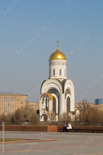 Church of St. George on Poklonnaya Hill in March