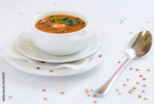 canvas print picture Linsensuppe