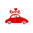 Love red car for your design