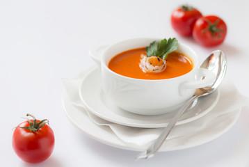 Tomatensuppe mit Einlage