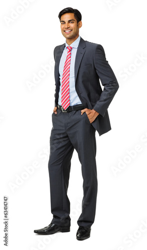 Well-Dressed Businessman With Hands In Pockets