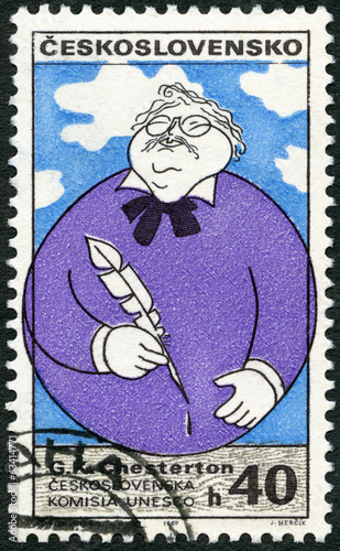 CZECHOSLOVAKIA - 1969: shows Gilbert K. Chesterton (1874-1936)