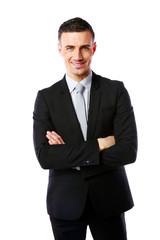 businessman with arms folded
