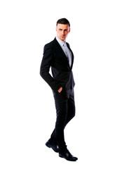Full-length portrait of a confident businessman