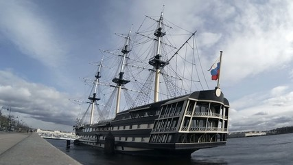 sailing frigate time Lapse