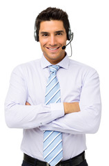 Customer Service Representative Standing Arms Crossed