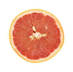 Red Grapefruit Half On White Background