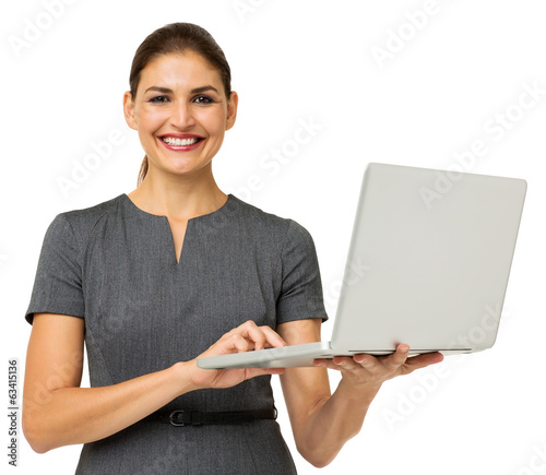 Confident Businesswoman With Laptop