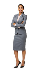 Portrait Of Smiling Businesswoman Standing Arms Crossed