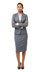Portrait Of Businesswoman Standing Arms Crossed
