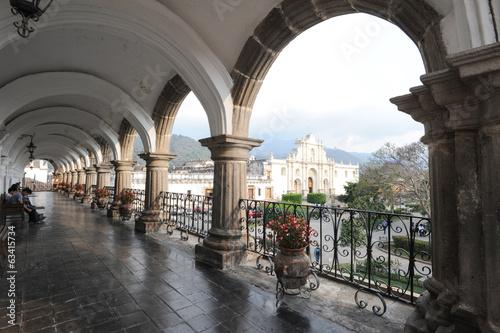 Fotobehang Centraal-Amerika Landen The cathedral of Antigua