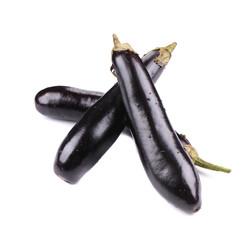 Fresh eggplants.