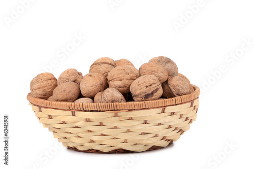 walnuts on basket.
