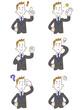若いビジネスマン 6種類の仕草とポーズ