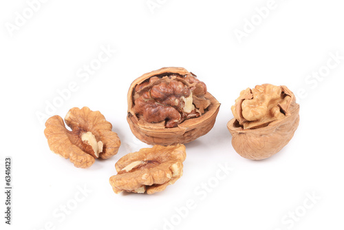 Pile of walnuts.