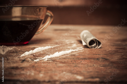 Caffeine and cocaine