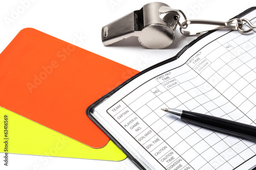 Referee Accessories - Stock Photo