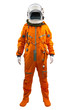 Astronaut isolated on a white background. Cosmonaut wearing spac - 63416904