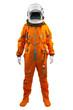 Leinwanddruck Bild - Astronaut isolated on a white background. Cosmonaut wearing spac