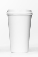 Blank coffee cup. Takeaway coffee package. Just add your own tex