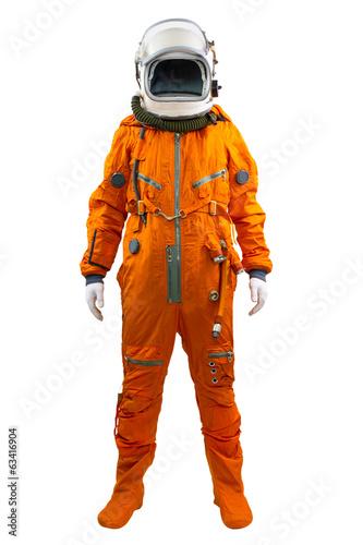 Leinwanddruck Bild Astronaut isolated on a white background. Cosmonaut wearing spac