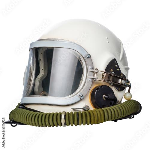 Papiers peints Nasa Astronaut/pilot helmet isolated on a white background.