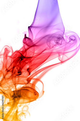 Smoke waterfall