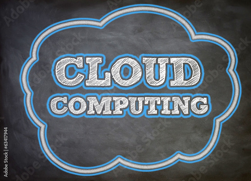 cloud computing written on chalkoard