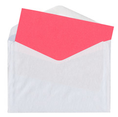 envelope with blank red card