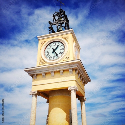 clock tower in Tarragona Port, Spain
