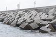 Leinwanddruck Bild - breakwater