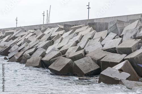 Leinwanddruck Bild breakwater