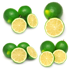 Collection of sliced limes