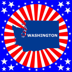 map of the U.S. state of Washington