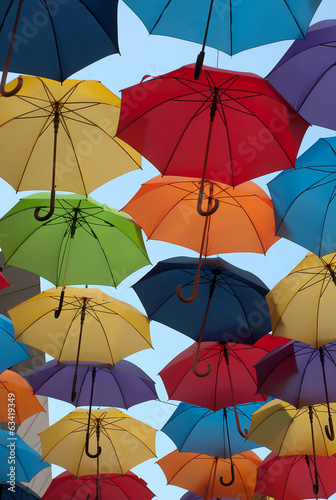 Colorful umbrellas-1