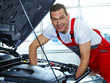 Master mechanic fixing the engine bay of a car