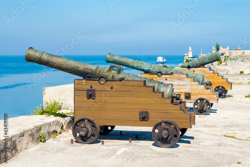 Old spanish cannons in Havana