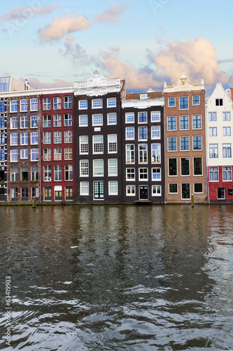 facades of historic buildings,  Amsterdam