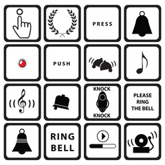 Set signs for doorbells