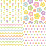 cute seamless pink and yellow background patterns
