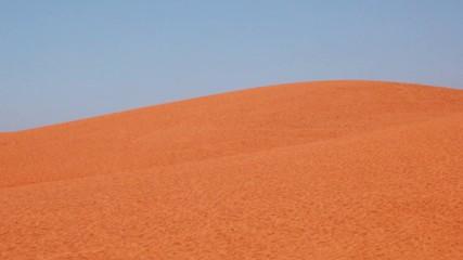 Sky and sand. Sahara Desert.