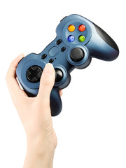Hand with gamepad