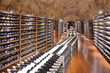 Wine cellar with wine bottle and glasses - 63421762