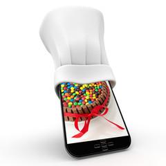 Smartphone and dessert