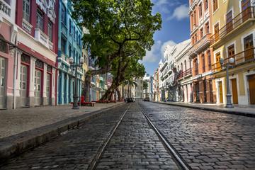 View of Bom Jesus Street in Recife, Pernambuco, Brazil